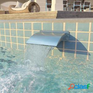 Fuente de piscina de acero inoxidable 30x9x26 cm plateada