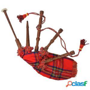 Gaita para niños roja de cuadros escoceses