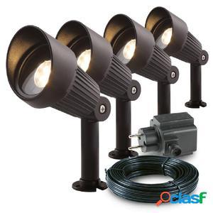 Garden Lights Focos reflectores Focus 4 uds aluminio 3151014
