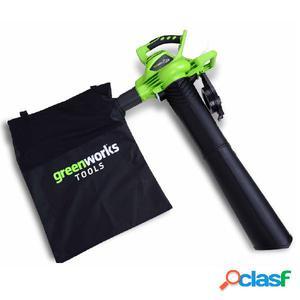 Greenworks Soplador de hojas/aspirador sin la batería 40V