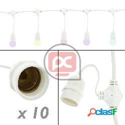Guirnalda 10 bombillas luces con casquillo e27 exterior ip64