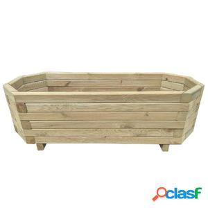 Jardinera 100x40x31 cm de madera de pino impregnada