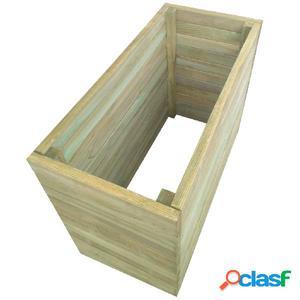 Jardinera de madera de pino impregnada 100x50x77 cm