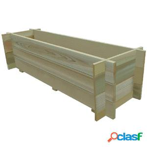 Jardinera macetero de madera de pino impregnada 120 cm