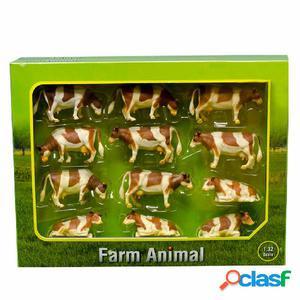 Kids Globe Vacas de juguete 12 unidades 1:32 plástico