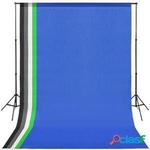 Kit de estudio fotográfico con 5 fondos de colores y marco