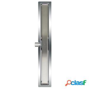 L'Aqua Desagüe lineal de ducha baldosa 70 cm acero