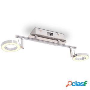 Lámpara LED de techo con 2 luces blanco cálido