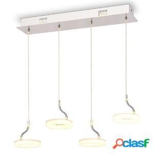 Lámpara colgante LED con 4 luces blanco cálido