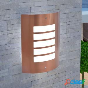 Lámpara de pared de exterior de acero inoxidable color