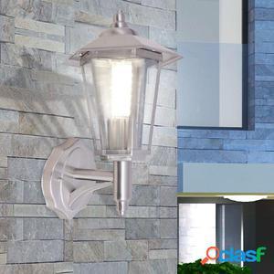 Lámpara de pared vertical para exterior de acero inoxidable