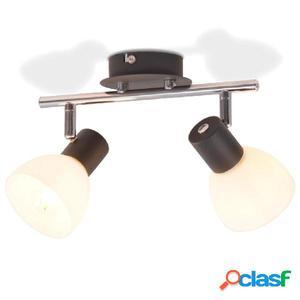 Lámpara de techo con 2 focos E14 negra