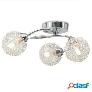 Lámpara de techo con 3 bombillas LED G9 120 W
