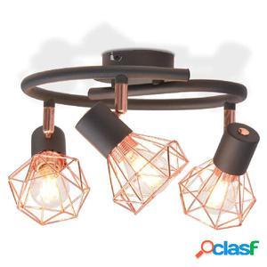 Lámpara de techo con 3 bombillas de filamento LED 12 W
