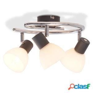 Lámpara de techo con 3 focos E14 negra