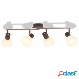 Lámpara de techo con 4 focos E14 negra