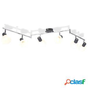 Lámpara de techo con 6 focos E14 negra