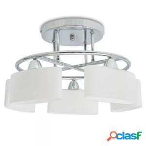 Lámpara de techo pantalla cristal elipse 5 bombillas E14