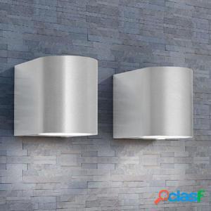 Lámparas de pared para exteriores 2 piezas