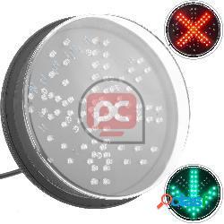 Luz led para semáforo ip65 200mm de 12-24v flecha verda y