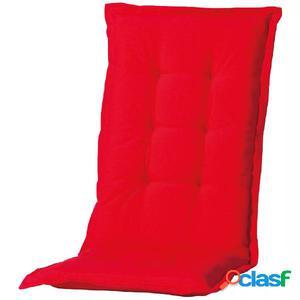 Madison Cojín de silla con respaldo Panama 123x50cm rojo
