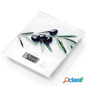 Medisana Balanza de cocina digital KS 210 oliva vidrio 5 kg