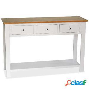 Mesa consola de madera maciza de roble 118x35x77 cm
