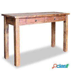 Mesa consola de madera maciza reciclada 123x42x75 cm