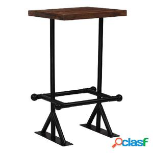Mesa de bar madera maciza reciclada marrón oscuro 60x60x107