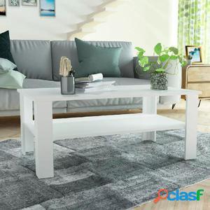 Mesa de centro de madera aglomerada 100x59x42 cm blanca