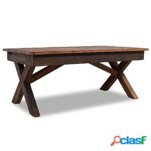 Mesa de centro de madera reciclada 110x60x45 cm