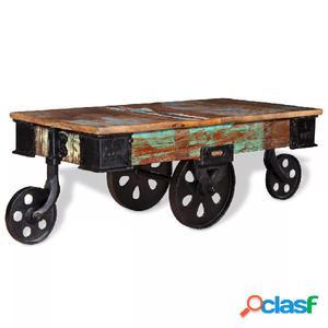 Mesa de centro de madera reciclada 90x45x35 cm