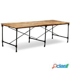 Mesa de comedor de madera maciza de mango 240 cm