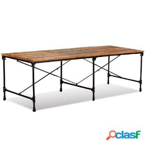 Mesa de comedor de madera maciza reciclada 240 cm