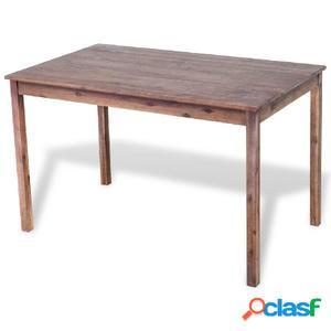 Mesa de comedor en madera maciza de acacia 120x70x75 cm