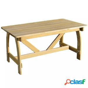 Mesa de jardín con madera de pino impregnada