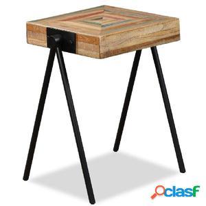 Mesita auxiliar de madera de teca reciclada