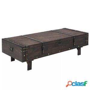Mesita de centro de madera maciza estilo vintage 120x55x35
