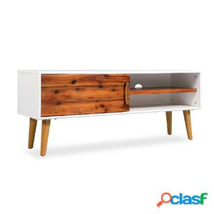 Mueble para TV de madera maciza de acacia 120x35x45 cm