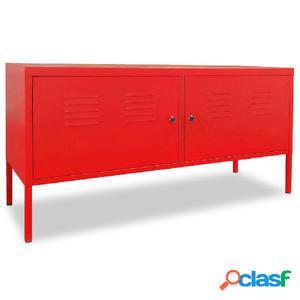 Mueble para la TV 118x40x60 cm rojo