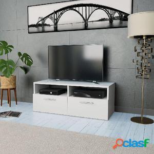 Mueble para la televisión aglomerado blanco 95x35x36 cm