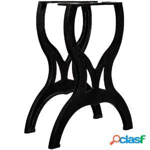 Patas de mesa de comedor 2 uds estructura X hierro fundido