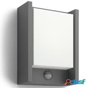 Philips Luz de pared LED sensor movimiento Arbour 6 W gris