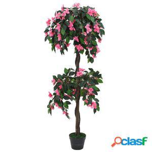 Planta artificial azalea con maceta 310 cm verde y rosa
