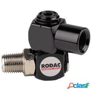 """RODAC Conector giratorio para manguera de aire 1/4"""""""