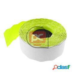 Rollo bobina de 1000 etiquetas adhesivas amarillas 26x16mm