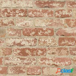 RoomMates Papel de pared adhesivo de ladrillo estucado rojo