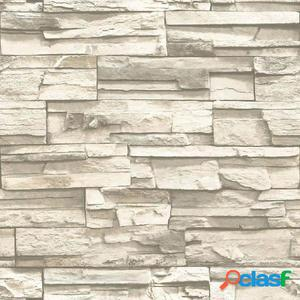 RoomMates Papel de pared adhesivo de piedra natural beige