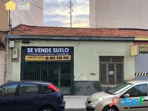 SE VENDE SUELO EN CALLE CENTRICA DE EL ALTET 9M2 FACHADA Y