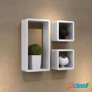 Set de 3 estantes en forma de cubo MDF